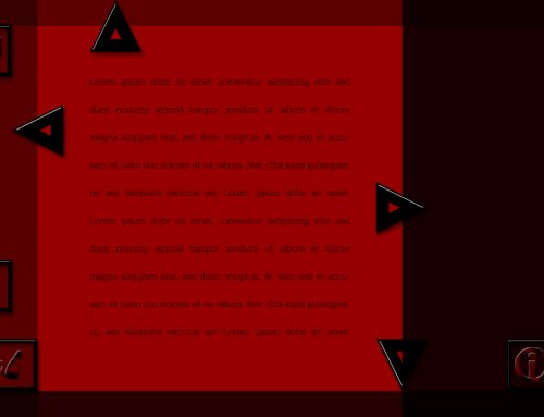 Black & Red Web Layout