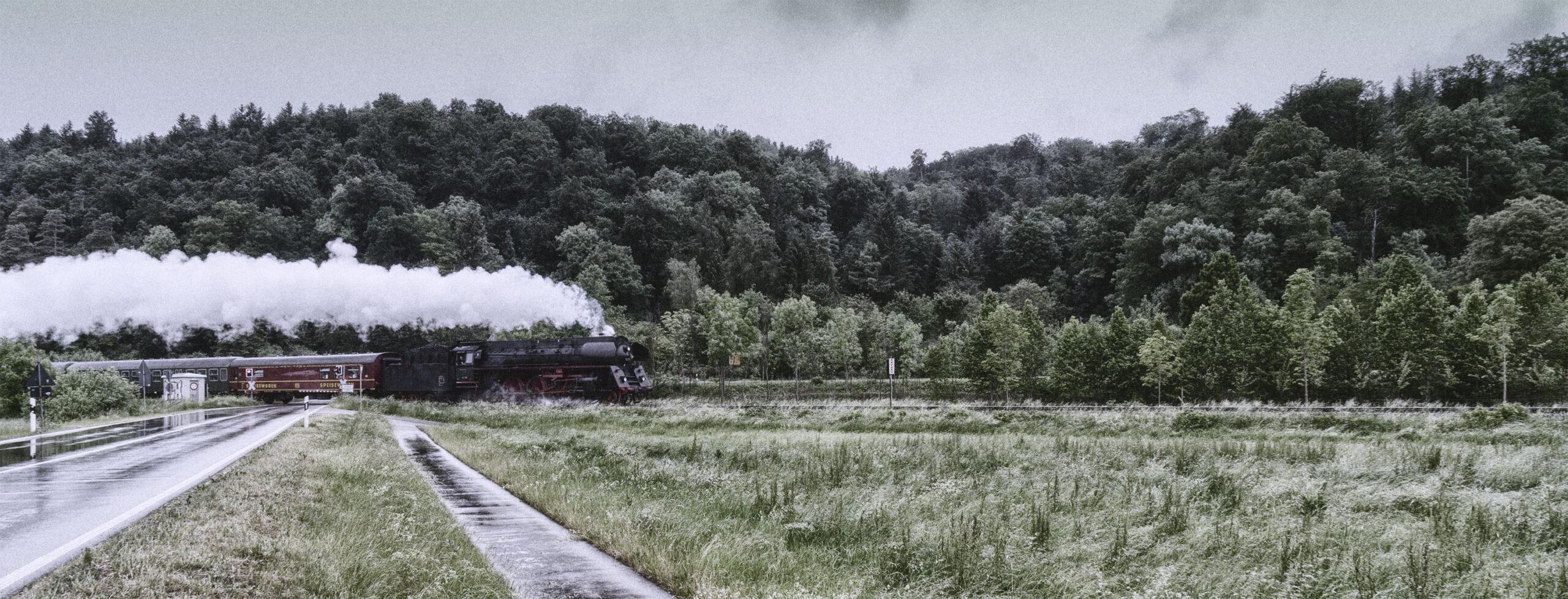 Dampflok durch die Schwaebische Alb